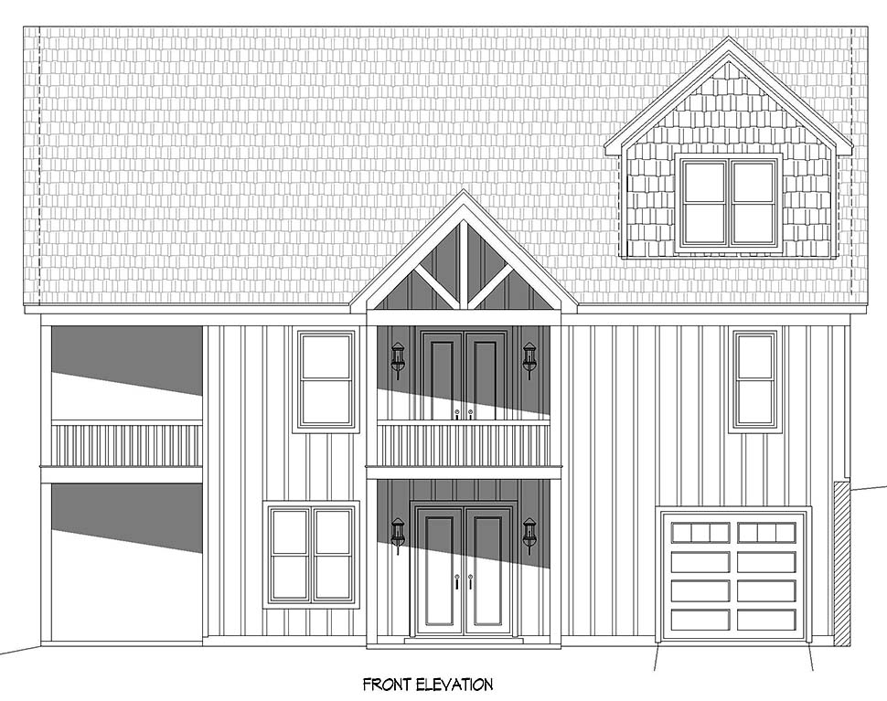 Cabin, Country, Craftsman, Farmhouse, Prairie House Plan 52148 with 3 Beds, 2 Baths, 2 Car Garage Picture 3