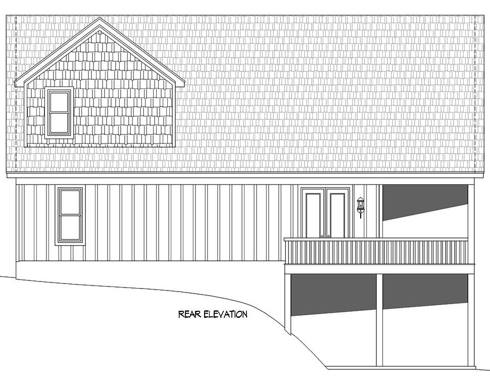 Cabin, Country, Craftsman, Farmhouse, Prairie House Plan 52148 with 3 Beds, 2 Baths, 2 Car Garage Picture 4