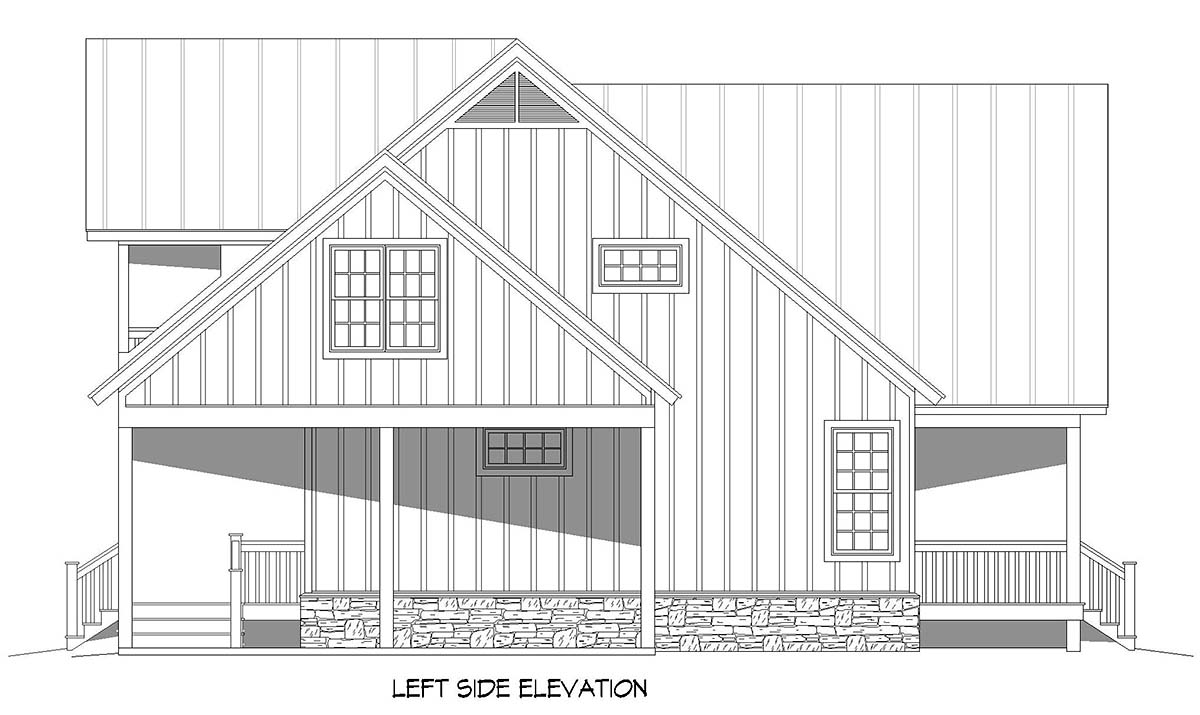 Cabin, Country, Farmhouse House Plan 52150 with 3 Beds, 3 Baths, 2 Car Garage Picture 2