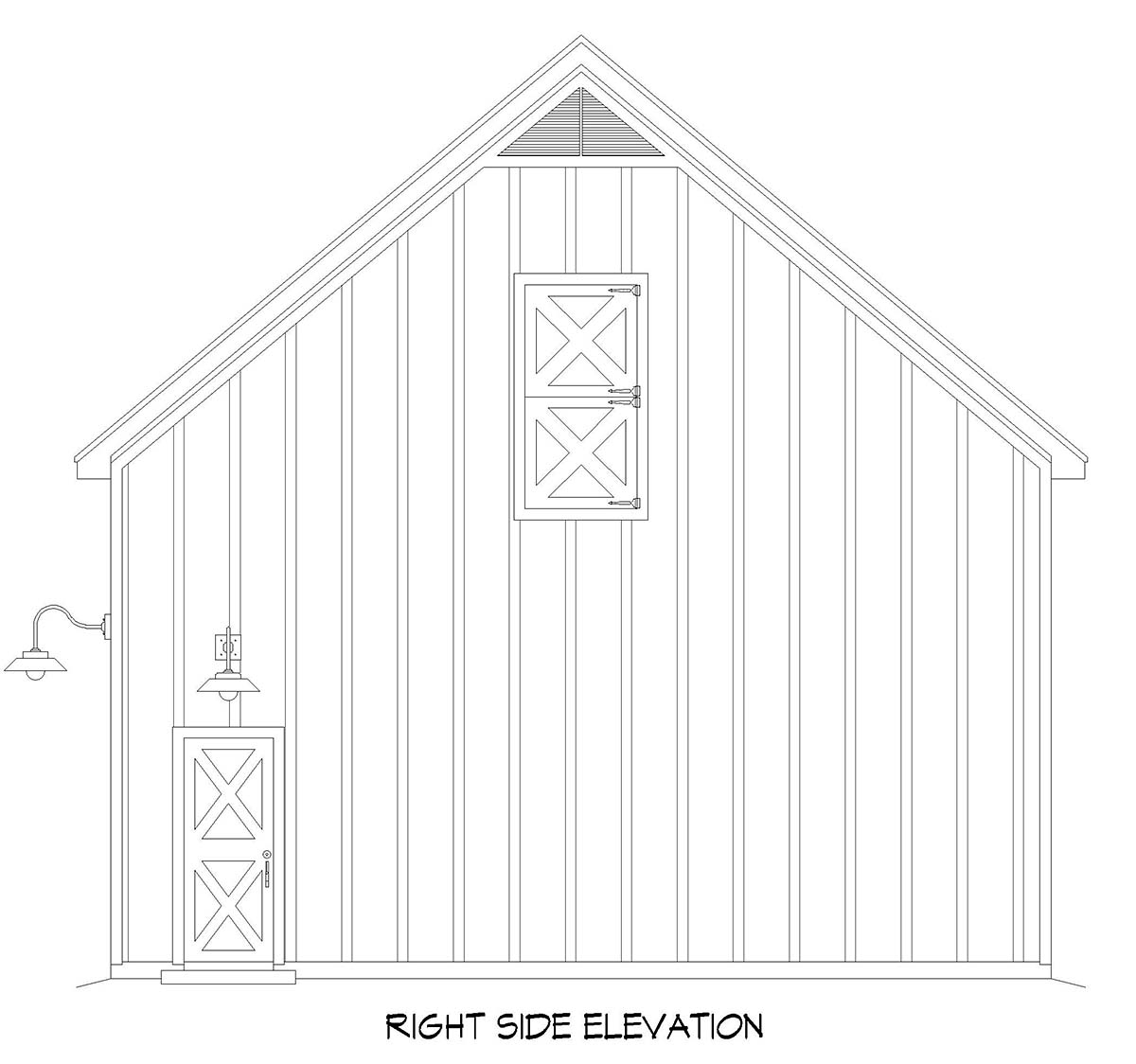 Country, Farmhouse, Traditional 2 Car Garage Plan 52158 Picture 1