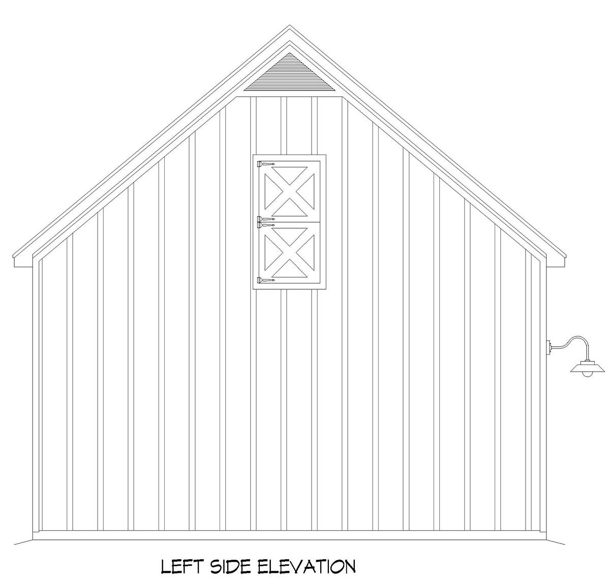 Country, Farmhouse, Traditional 2 Car Garage Plan 52158 Picture 2