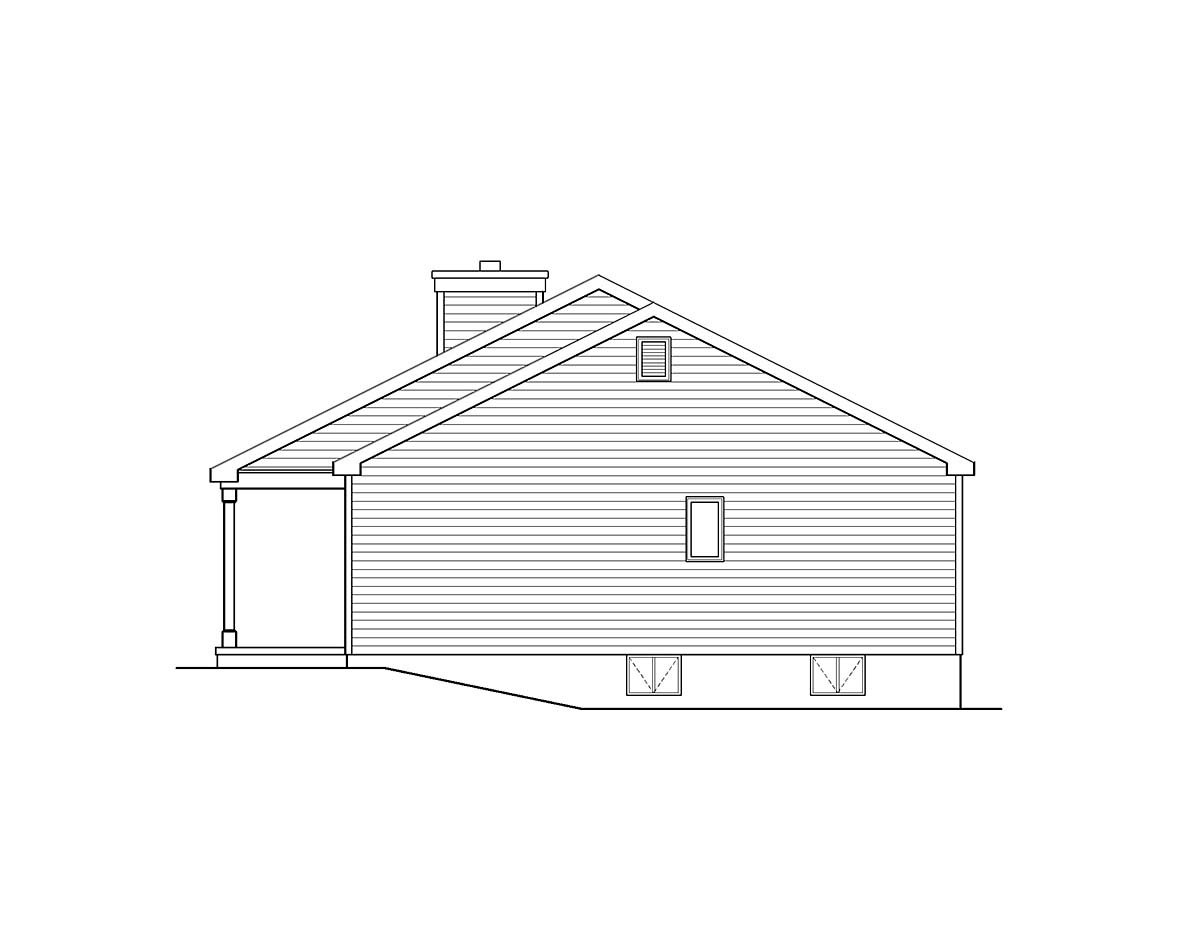 Ranch House Plan 52201 with 3 Beds, 2 Baths, 1 Car Garage Picture 1