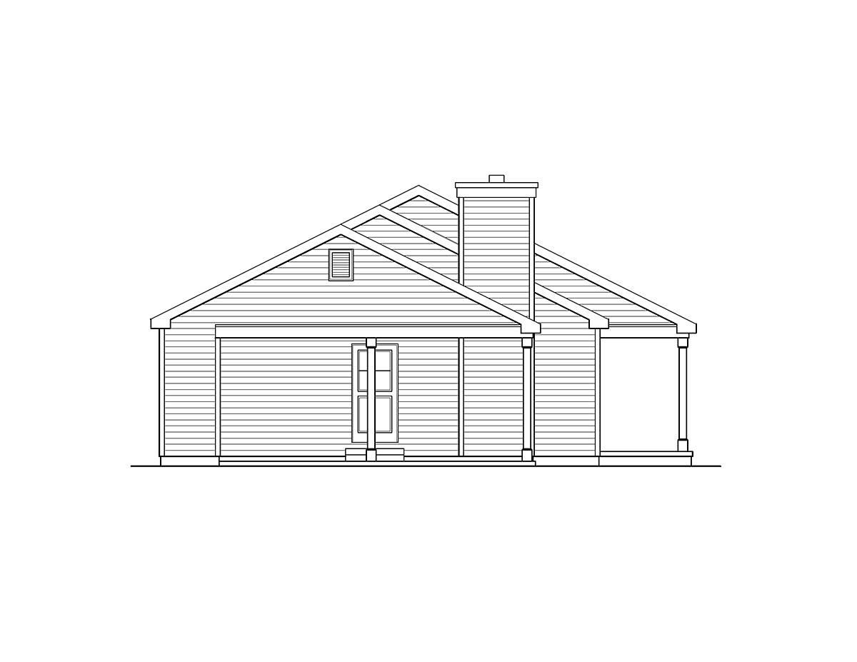 Ranch House Plan 52201 with 3 Beds, 2 Baths, 1 Car Garage Picture 2