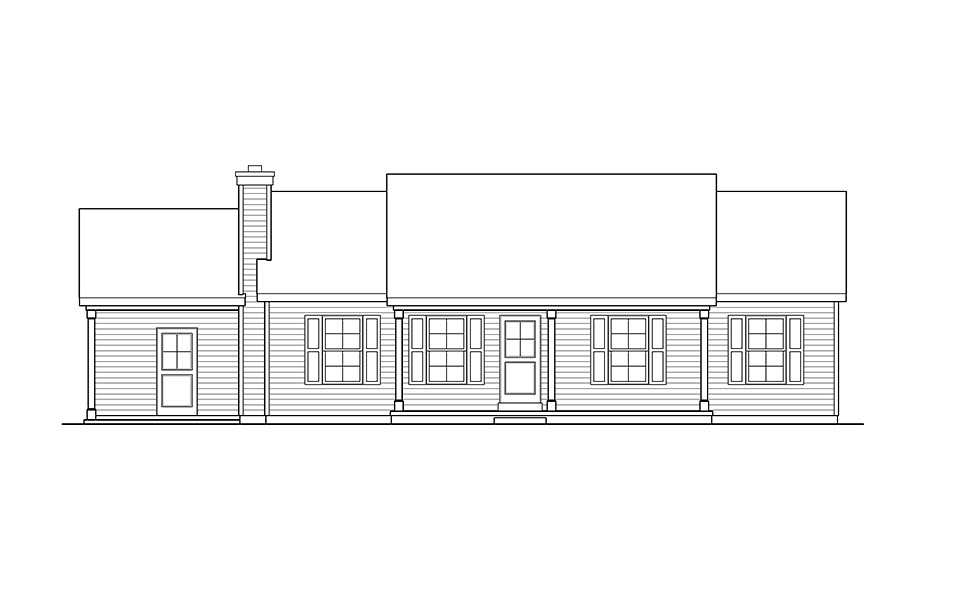 Ranch House Plan 52201 with 3 Beds, 2 Baths, 1 Car Garage Picture 3