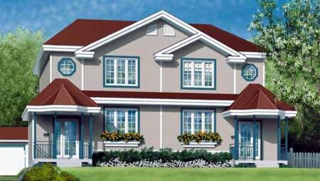 Multi-Family Plan 52424 with 6 Beds, 4 Baths Elevation