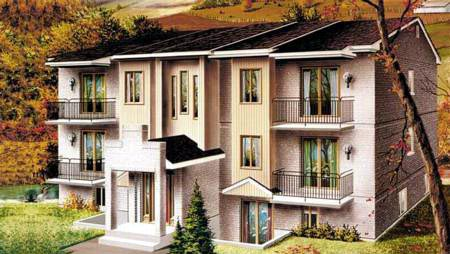 Multi-Family Plan 52426 with 12 Beds, 6 Baths Elevation