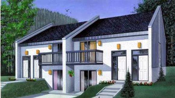 Multi-Family Plan 52446 with 8 Beds, 4 Baths Elevation