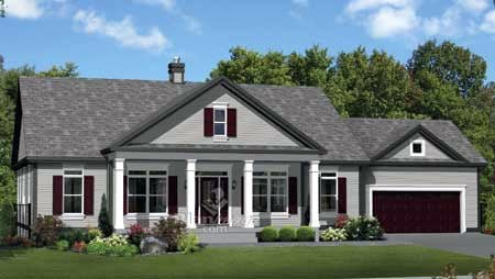 House Plan 52535 with 4 Beds, 3 Baths, 2 Car Garage Elevation
