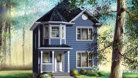House Plan 52723 with 2 Beds, 2 Baths Elevation