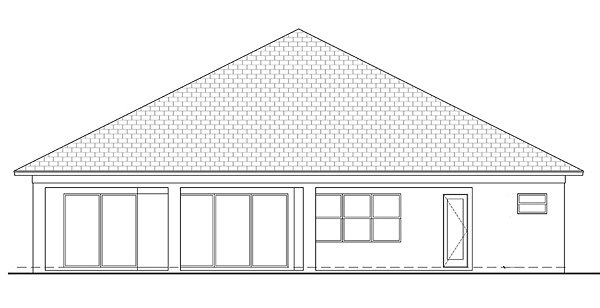 Coastal, Contemporary, Florida House Plan 52921 with 4 Beds, 3 Baths Rear Elevation