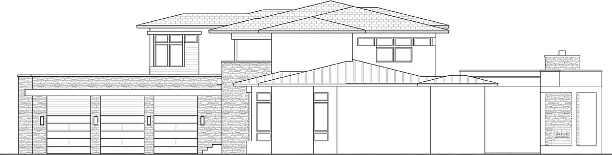 Contemporary House Plan 52973 with 3 Beds, 5 Baths, 3 Car Garage Picture 1