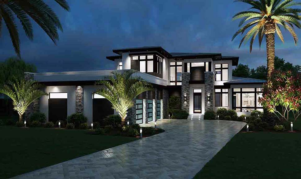 Contemporary House Plan 52973 with 3 Beds, 5 Baths, 3 Car Garage Picture 3