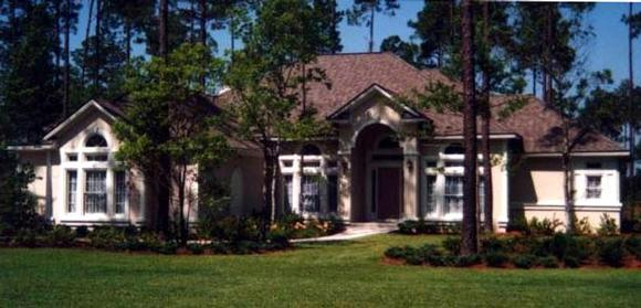 House Plan 53457 with 4 Beds, 4 Baths, 2 Car Garage Elevation