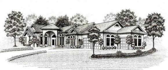 House Plan 53473 with 3 Beds, 3 Baths, 2 Car Garage Elevation