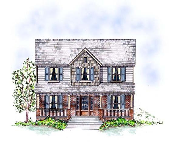 Country, Southern, Traditional House Plan 53903 with 3 Beds, 3 Baths, 2 Car Garage Elevation