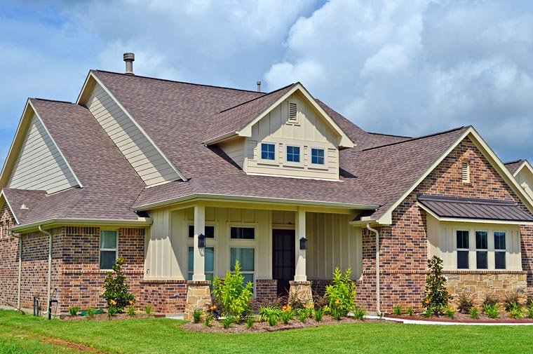 Country, Craftsman, European House Plan 53906 with 4 Beds, 4 Baths, 3 Car Garage Elevation