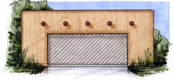 2 Car Garage Plan 54797 Elevation