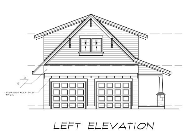 Craftsman 2 Car Garage Apartment Plan 55553 with 1 Beds, 1 Baths Picture 1