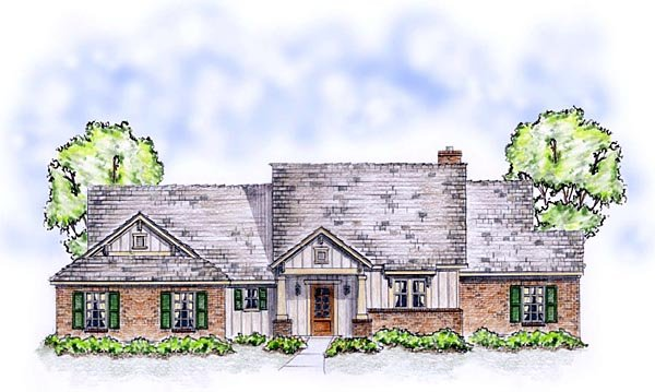 Bungalow, Craftsman, Ranch, Traditional House Plan 56564 with 3 Beds, 2 Baths, 2 Car Garage Picture 1
