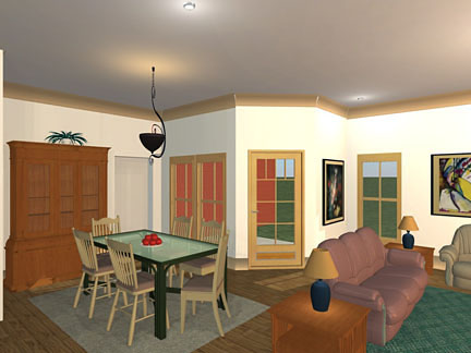 Bungalow, Craftsman, Ranch, Traditional House Plan 56564 with 3 Beds, 2 Baths, 2 Car Garage Picture 3