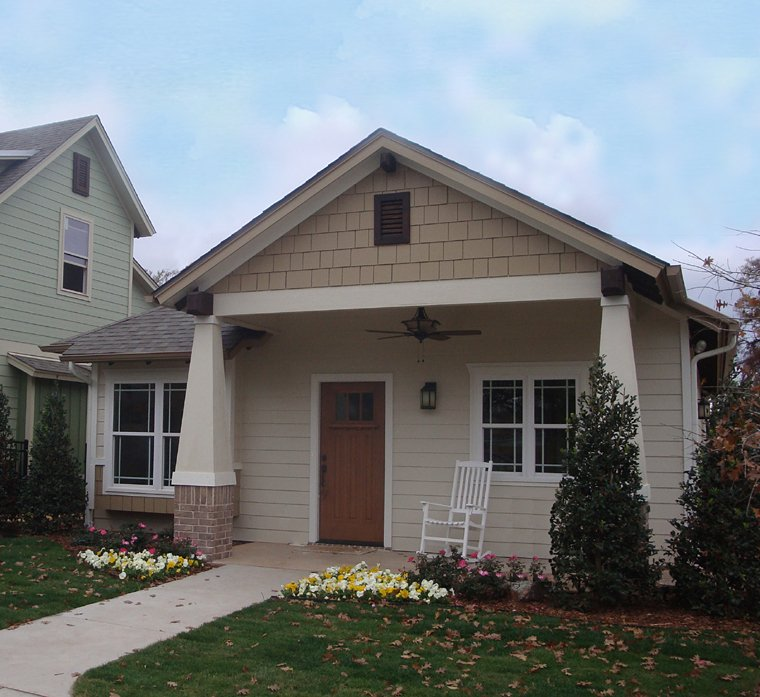 Cottage, Craftsman House Plan 56578 with 2 Beds, 2 Baths, 1 Car Garage Picture 7