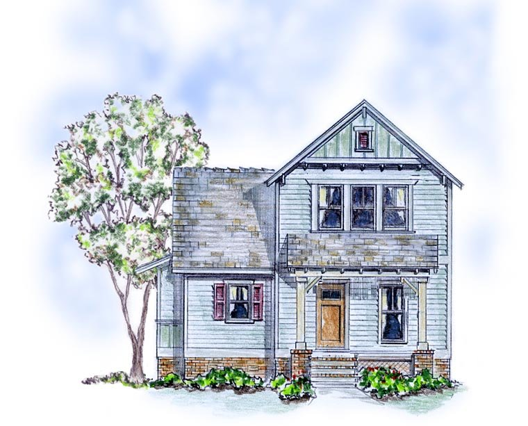 Cottage, Farmhouse, Traditional House Plan 56586 with 3 Beds, 3 Baths Elevation