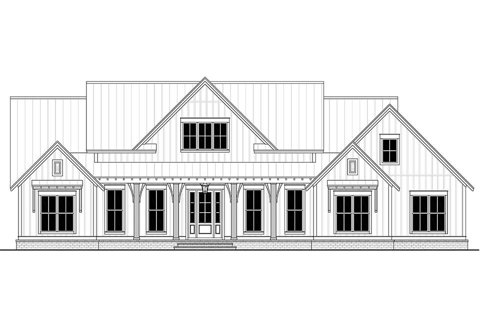 Country, Craftsman, Farmhouse House Plan 56700 with 3 Beds, 3 Baths, 2 Car Garage Picture 3