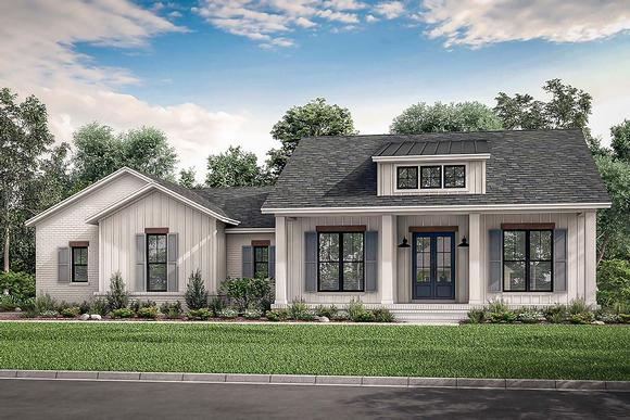 Country, Craftsman, Farmhouse, Traditional House Plan 56703 with 3 Beds, 3 Baths, 2 Car Garage Elevation