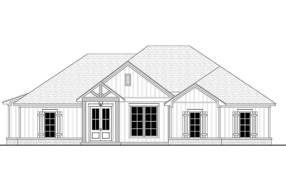 Country, Craftsman, Farmhouse House Plan 56704 with 4 Beds, 2 Baths, 2 Car Garage Picture 3