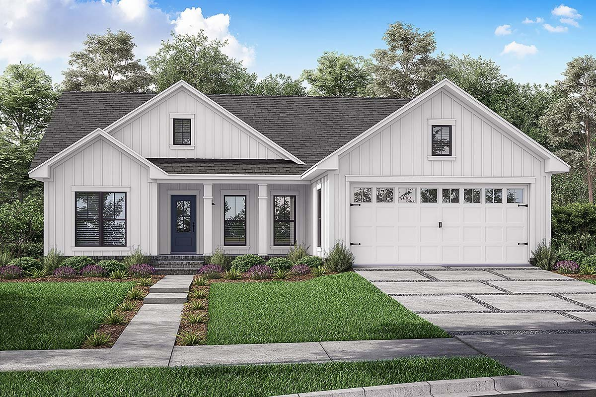 Country, Farmhouse, Traditional House Plan 56705 with 3 Beds, 2 Baths, 2 Car Garage Elevation