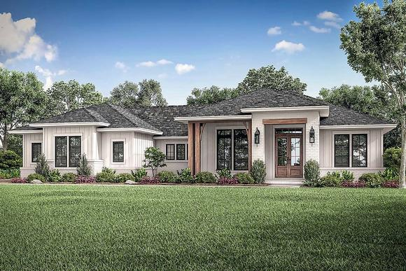 Country, Farmhouse, Ranch House Plan 56706 with 3 Beds, 3 Baths, 2 Car Garage Elevation