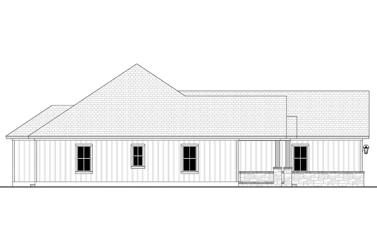 Craftsman, Farmhouse, Ranch House Plan 56707 with 3 Beds, 3 Baths, 3 Car Garage Picture 2