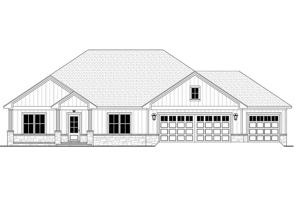 Craftsman, Farmhouse, Ranch House Plan 56707 with 3 Beds, 3 Baths, 3 Car Garage Picture 3