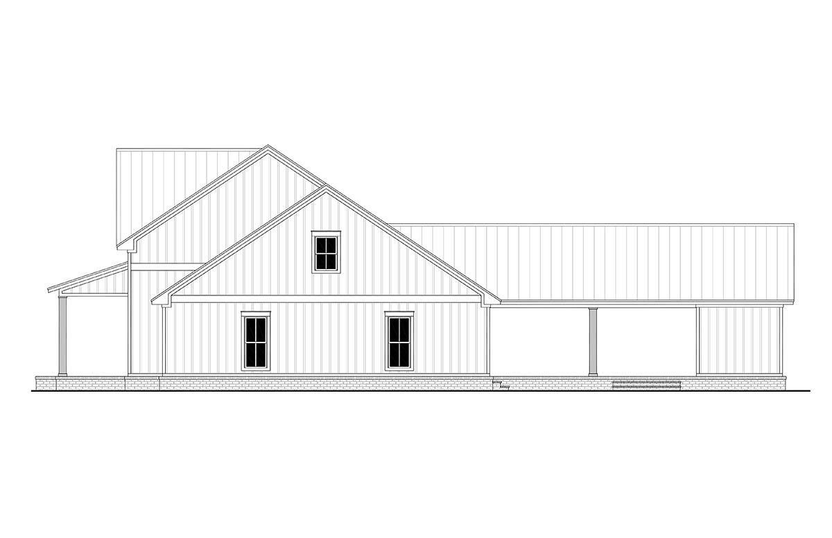 Country, Farmhouse, One-Story, Traditional House Plan 56710 with 4 Beds, 3 Baths, 2 Car Garage Picture 1