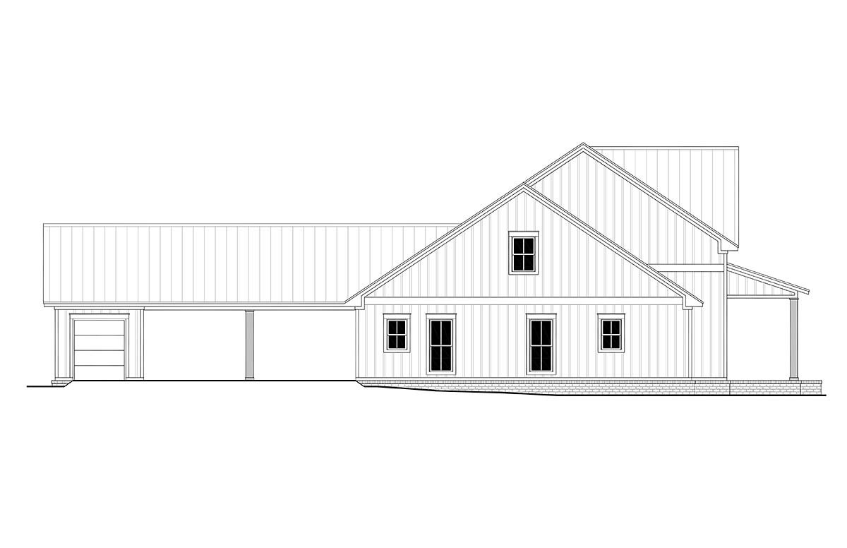 Country, Farmhouse, One-Story, Traditional House Plan 56710 with 4 Beds, 3 Baths, 2 Car Garage Picture 2