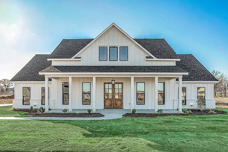 Country, Farmhouse, One-Story, Traditional House Plan 56710 with 4 Beds, 3 Baths, 2 Car Garage Picture 5
