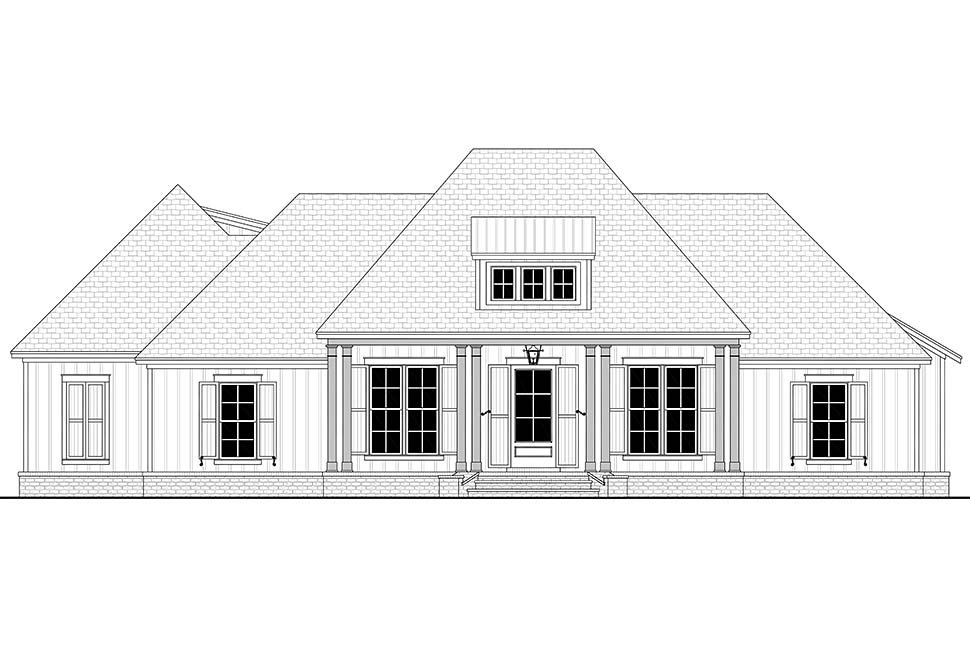 Country, French Country, Southern House Plan 56711 with 3 Beds, 3 Baths, 2 Car Garage Picture 3