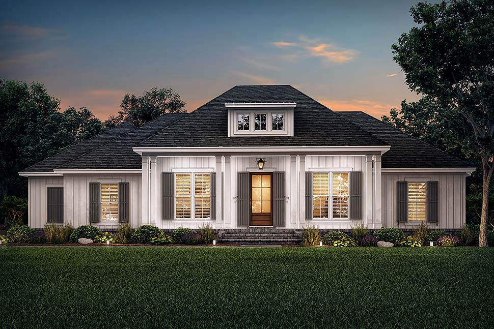 Country, French Country, Southern House Plan 56711 with 3 Beds, 3 Baths, 2 Car Garage Picture 4