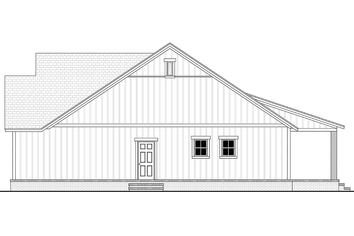 Country, Farmhouse, Southern, Traditional House Plan 56712 with 3 Beds, 2 Baths, 2 Car Garage Picture 1