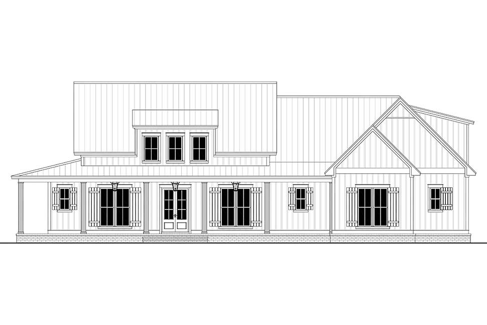 Country, Craftsman, Farmhouse House Plan 56717 with 3 Beds, 3 Baths, 2 Car Garage Picture 3