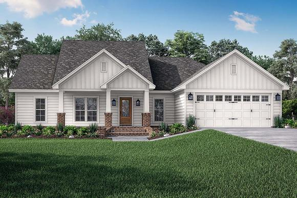 Cottage, Country, Craftsman, Traditional House Plan 56902 with 3 Beds, 2 Baths, 2 Car Garage Elevation