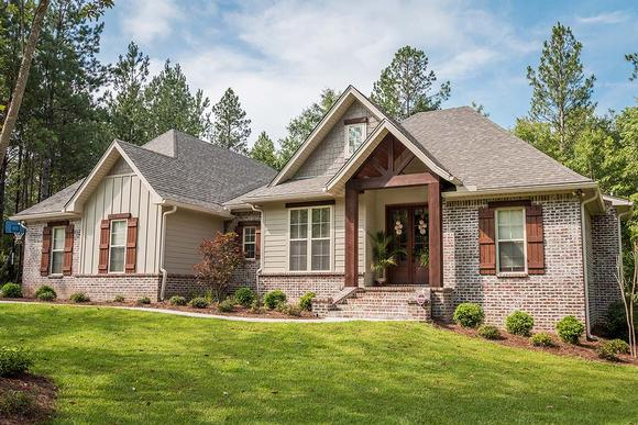 Country, Craftsman, Traditional House Plan 56903 with 3 Beds, 2 Baths, 2 Car Garage Elevation