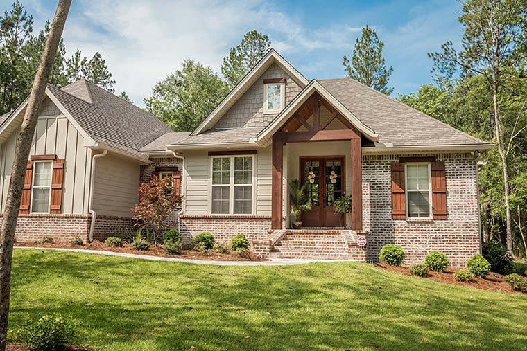 Country, Craftsman, Traditional House Plan 56903 with 3 Beds, 2 Baths, 2 Car Garage Picture 2