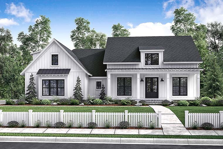 Country, Craftsman, Farmhouse House Plan 56912 with 3 Beds, 2 Baths, 2 Car Garage Elevation