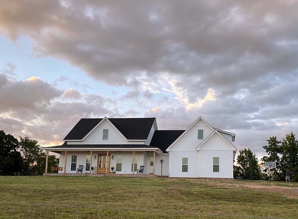 Country, Farmhouse, Southern, Traditional House Plan 56916 with 3 Beds, 3 Baths, 2 Car Garage Picture 3