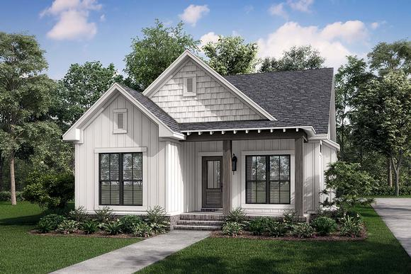 Cottage, Country, Southern, Traditional House Plan 56937 with 3 Beds, 2 Baths, 2 Car Garage Elevation