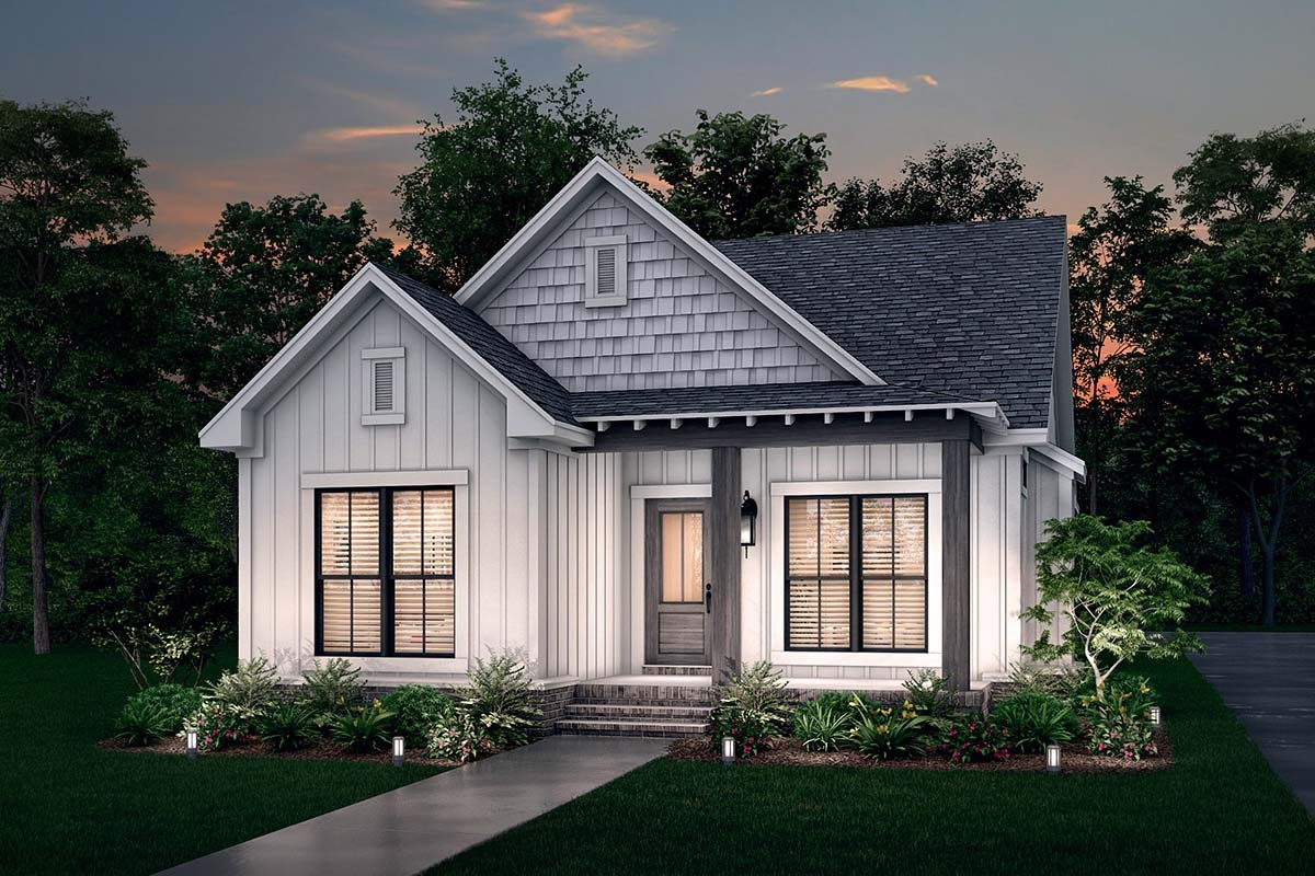 Cottage, Country, Southern, Traditional House Plan 56937 with 3 Beds, 2 Baths, 2 Car Garage Picture 1