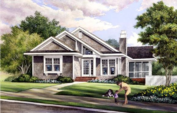 Contemporary, Craftsman House Plan 57070 with 3 Beds, 2 Baths Elevation