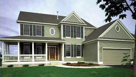 Country, Farmhouse House Plan 57336 with 4 Beds, 3 Baths, 3 Car Garage Elevation