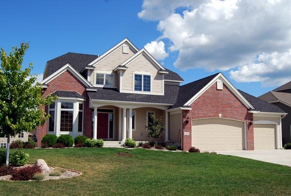 Country, Craftsman House Plan 57559 with 3 Beds, 3 Baths, 3 Car Garage Elevation